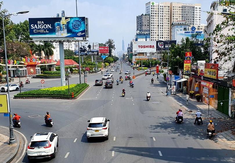 Dự án được kì vọng sẽ giảm tải ùn tắc cho các tuyến đường quanh sân bay Tân Sơn Nhất. Ảnh: Trường Nguyên