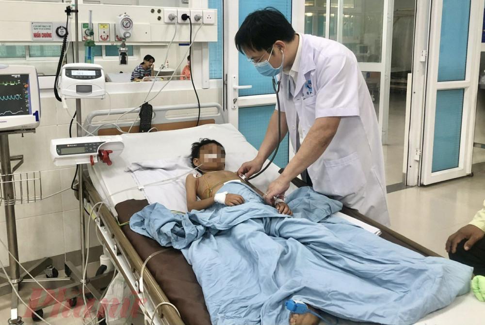 Bé H.G.V. được điều trị tại Bệnh viện Sản Nhi Quảng Ngãi