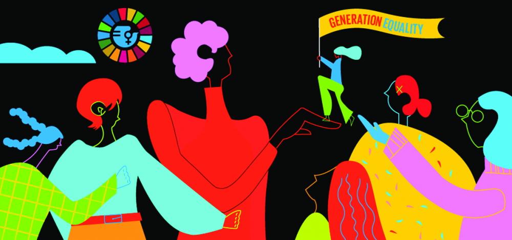 """Chủ đề ngày 8/3/2021: """"Phụ nữ lãnh đạo:  Tiến tới đạt được bình đẳng giới trong bối cảnh đại dịch COVID-19"""" - Ảnh: UN WOMEN"""