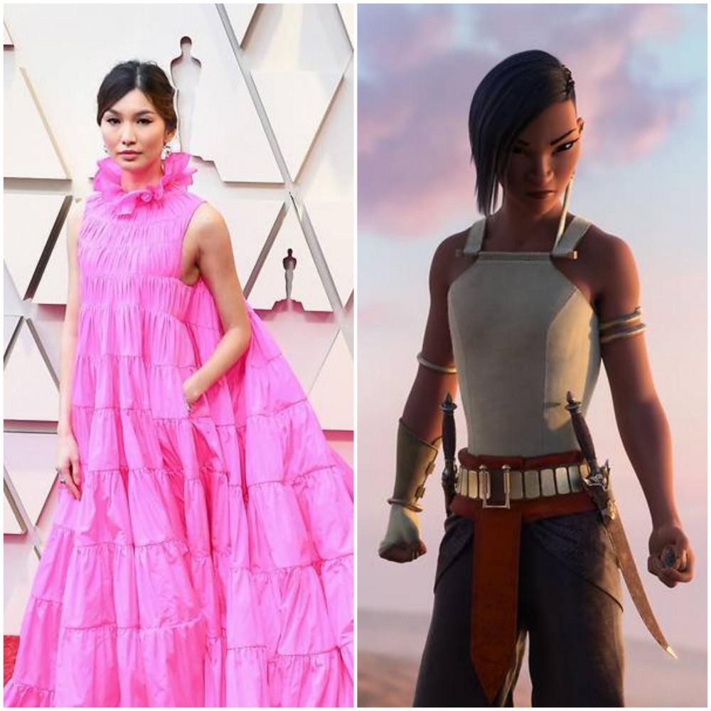 Nữ diễn viên Gemma Chan gốc Trung Quốc lồng tiếng  cho Namaari, một công chúa chiến binh của xứ sở Fang trong Raya và The Last Dragon.