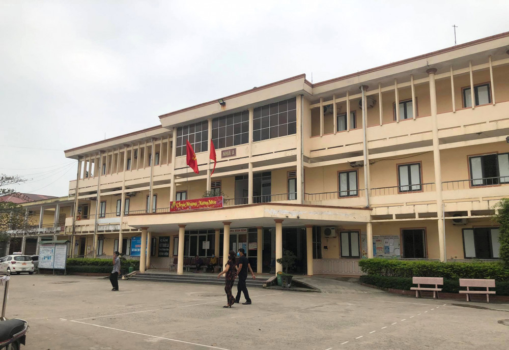 Bệnh viện đa khoa huyện Đức Thọ - nơi xảy ra sự việc