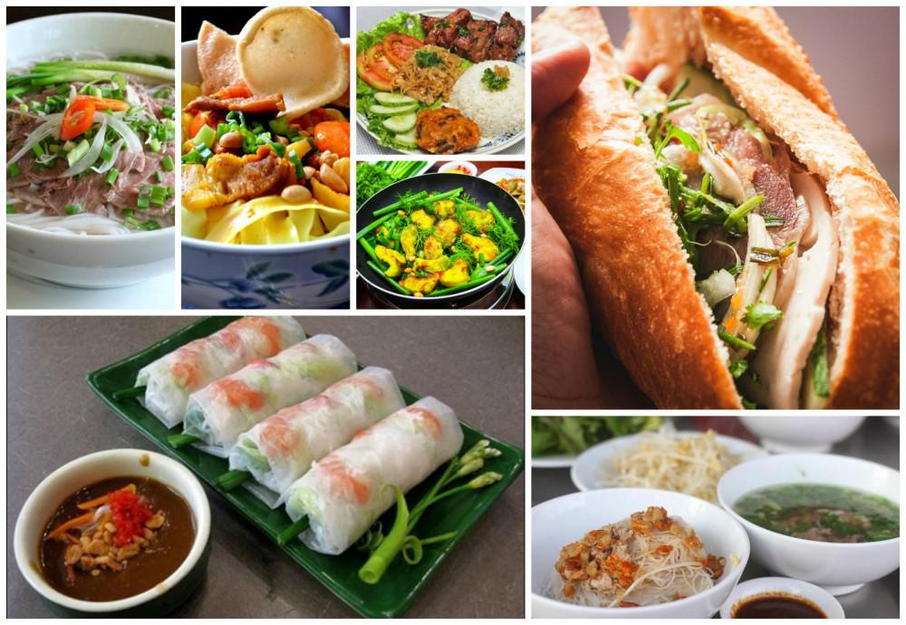 Một số món ăn trong Top 100 món ăn đặc sản Việt Nam 2020-2021.