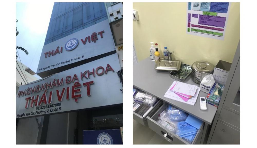 Thanh tra Sở Y tế TPHCM kiểm tra đột xuất Phòng khám đa khoa Thái Việt tại địa chỉ 165 Nguyễn Văn Cừ, phường 2, quận 5.