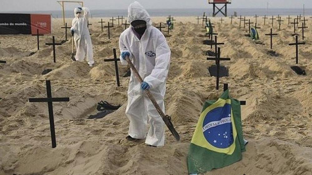 Số ca tử vong ở Brazil tăng cao kỷ lục.