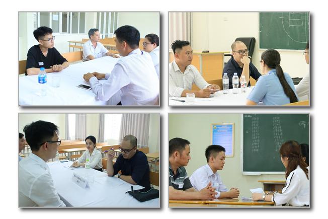 Vòng thi phỏng vấn: kiểm tra năng lực tư duy và tố chất nghề nghiệp của học sinh. Ảnh: Trường Doanh nhân CEO Việt Nam cung cấp