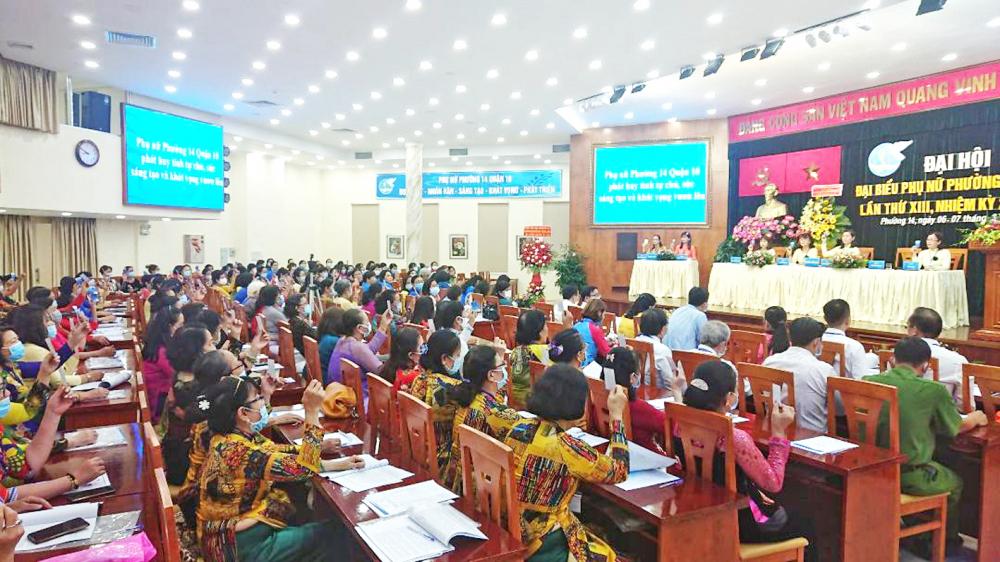 Hội LHPN P.14, Q.10 tổ chức Đại hội đại biểu Phụ nữ nhiệm kỳ 2021-2026