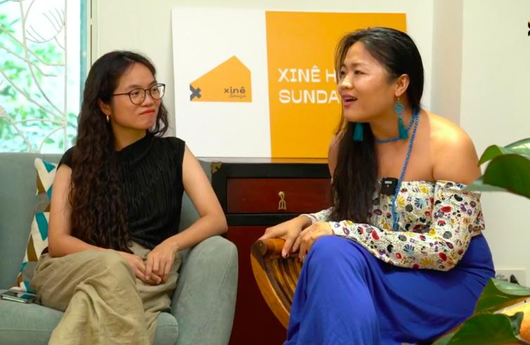 NSX Jenni Trang Lê (phải) và đạo diễn Võ Thạch Thảo tại buổi giao lưu.