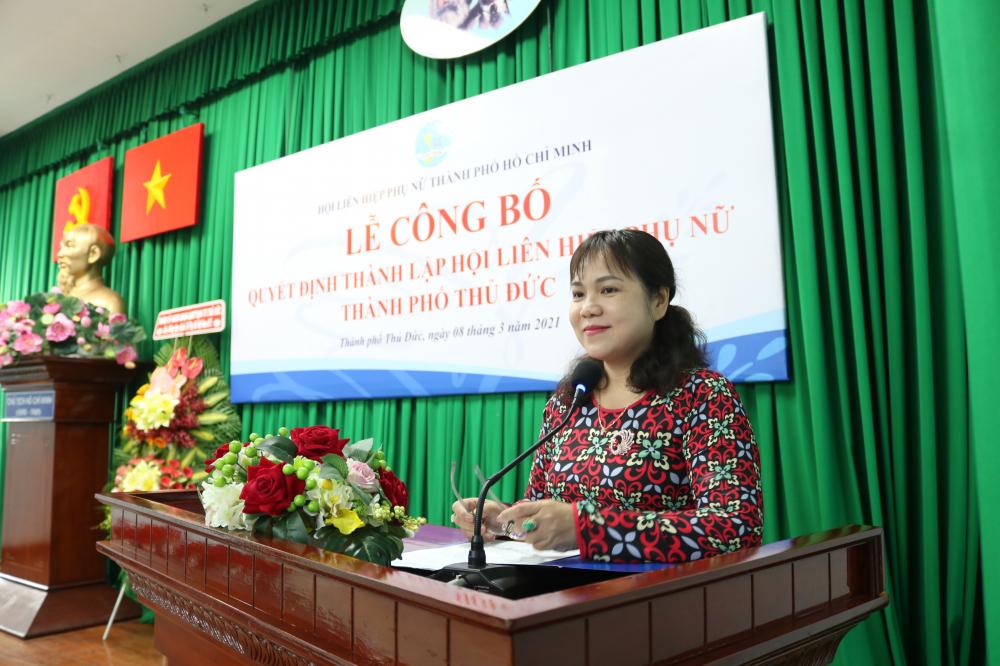 Bà Nguyễn Hạnh Thảo được chỉ định giữ chức Chủ tịch Hội LHPN TP.Thủ Đức.
