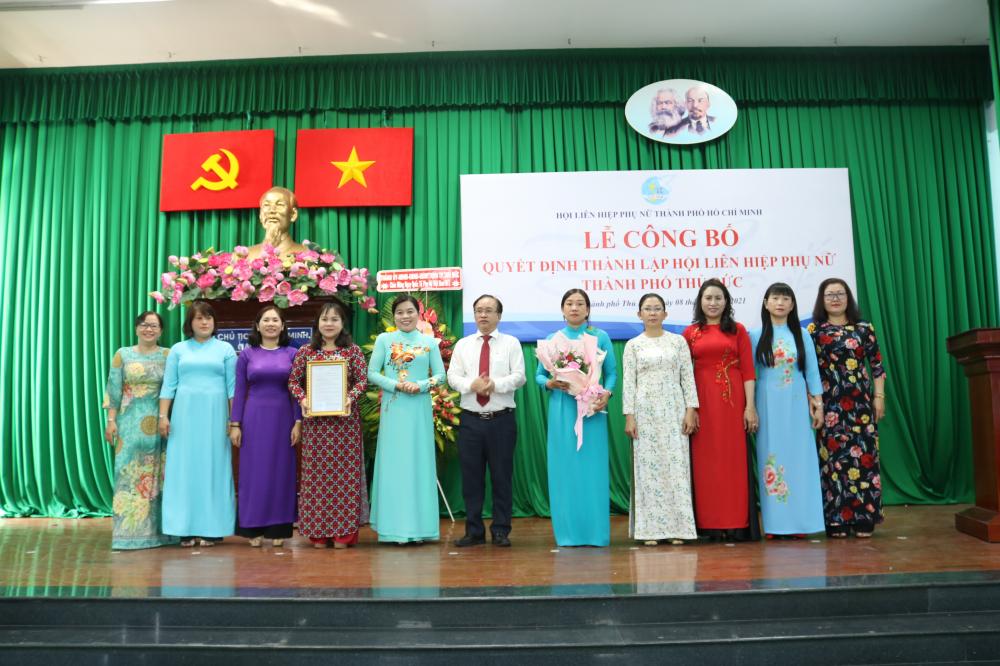 Lễ công bố quyết định thành lập Hội LHPN TP.Thủ Đức.