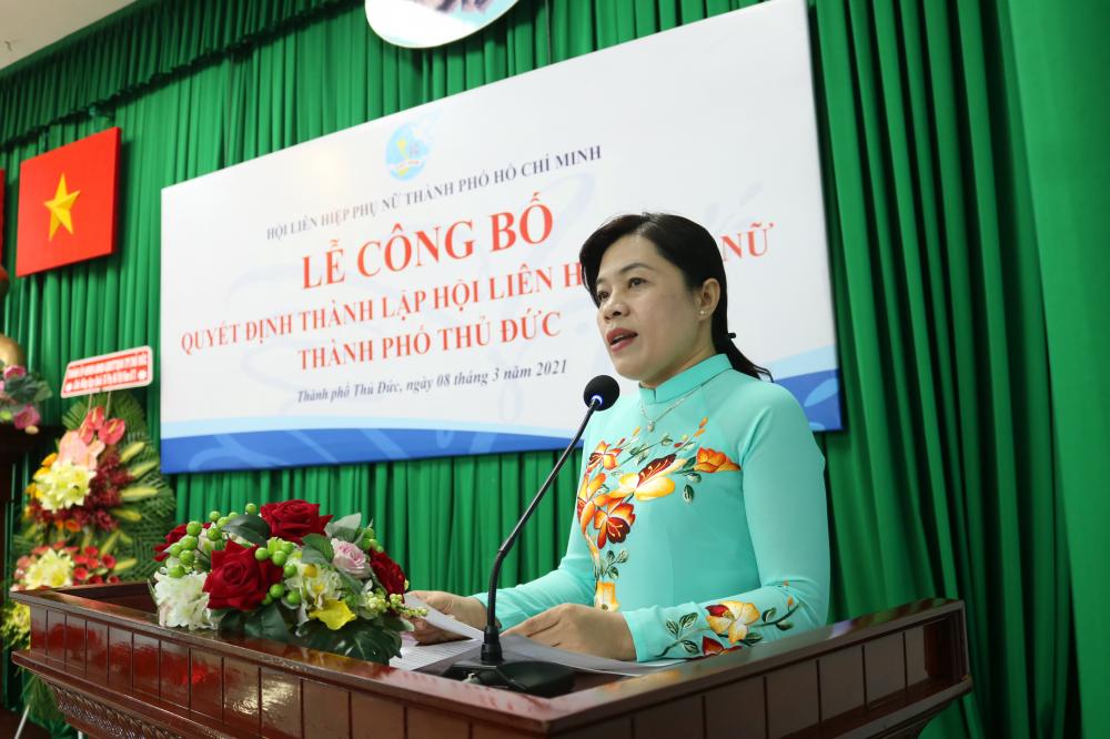Chủ tịch Hội LHPN TP.HCM Nguyễn Trần Phượng Trân đề nghị Hội LHPN TP.Thủ Đức nhanh chóng ổn định bộ máy, phân công công việc