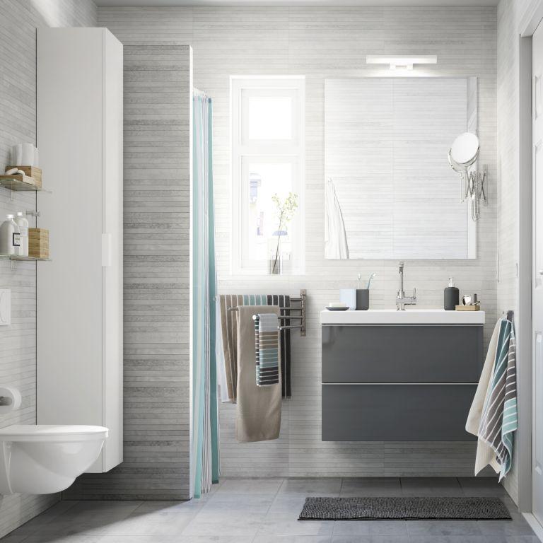 Hình 10. Thiết kế một móc có nhiều thanh ray di động treo tường là dụng cụ lưu trữ, treo  khăn thông minh cho phòng tắm hiện đại.