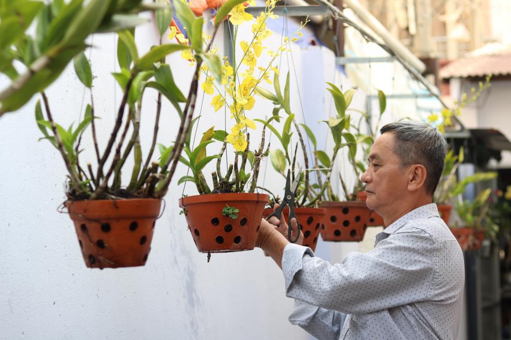 Nhờ sự chung tay của nhiều người mà khuôn viên trụ sở khu phố 1 đầy ắp sắc màu của cây, hoa.