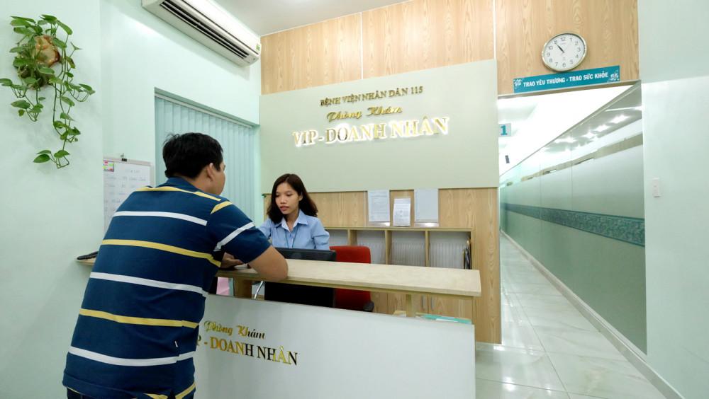 Phòng khám VIP - doanh nhân tại Bệnh viện Nhân dân 115