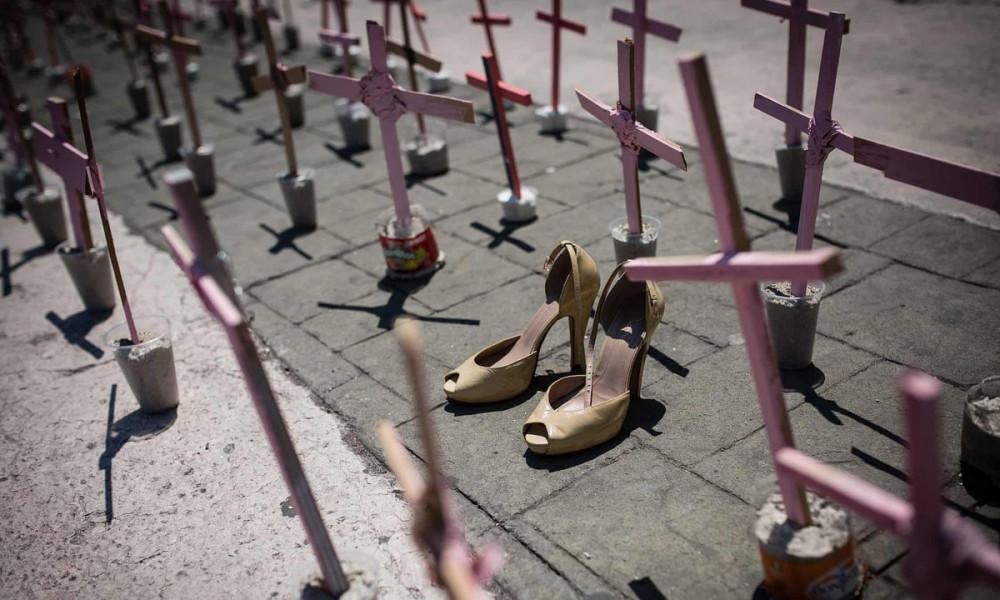 Một cuộc biểu tình chống nạn sát hại phụ nữ ở Mexico tại Ecatepec năm 2016 - Ảnh: Anadolu Agency/ Getty