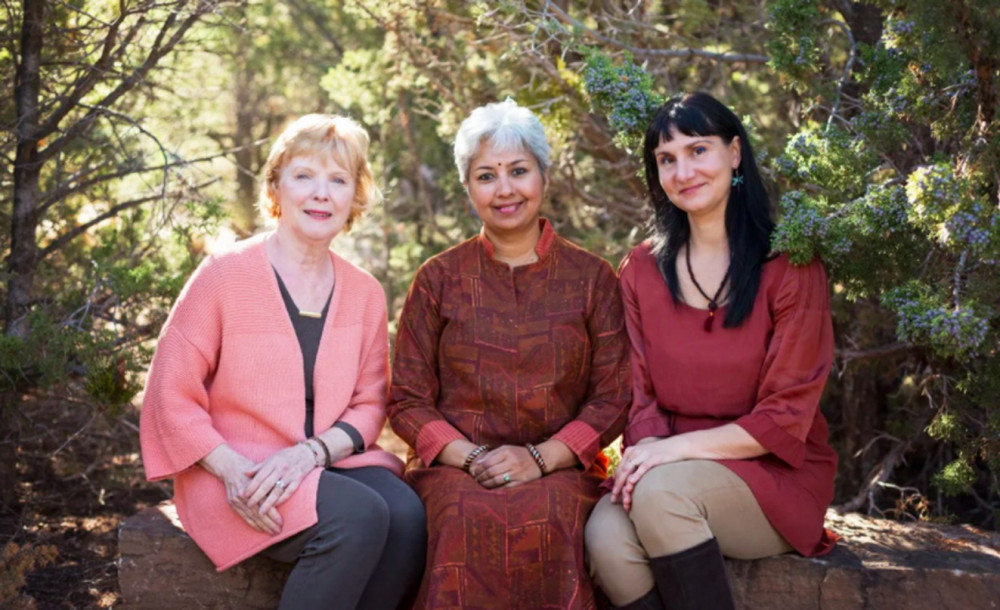 Bộ ba trong nhóm cố vấn Lo Anne Mayer, Uma Girish và Daniela Norris