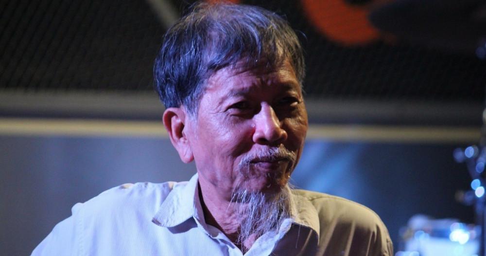 Nhà văn Nguyễn Huy Thiệp trong một cuộc giao lưu văn học năm 2016 - Ảnh: Đ.D