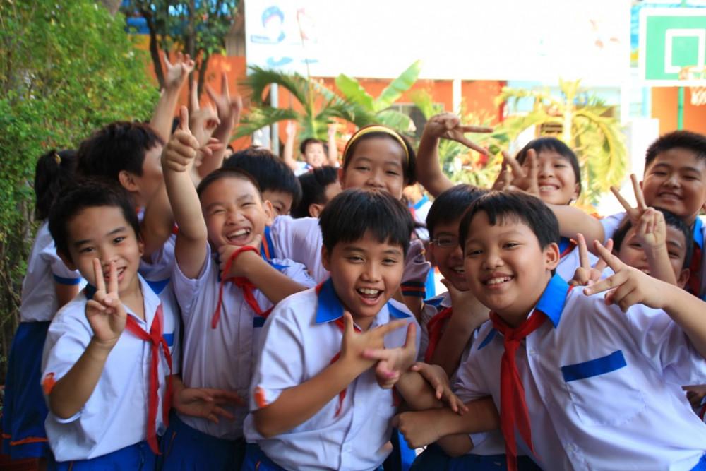 Học sinh trường tiểu học Nhựt Tân (Gò Vấp)