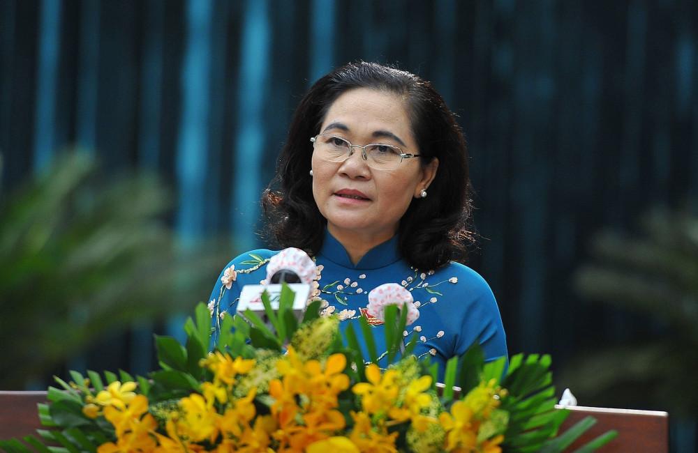 Bà Nguyễn Thị Lệ - Phó Bí thư Thành ủy TPHCM, Chủ thịch HĐND TPHCM chủ trì kỳ họp