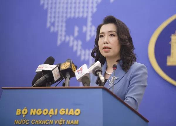 Người phát ngôn Bộ Ngoại giao khẳng định hoạt động của các tàu Trung Quốc trong phạm vi lãnh hải của Sinh Tồn Đông, thuộc quần đảo Trường Sa của Việt Nam, đã xâm phạm chủ quyền của Việt Nam.