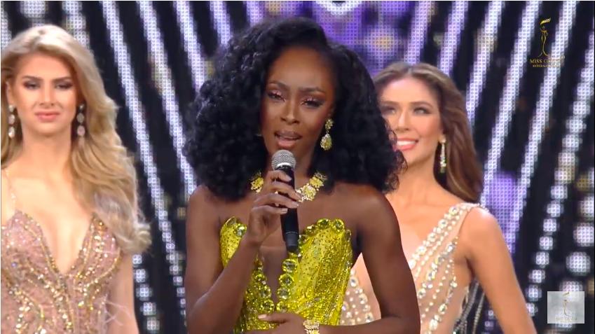 Người đẹp Mỹ trả lời ứng xử trong vòng thi dành cho top 3