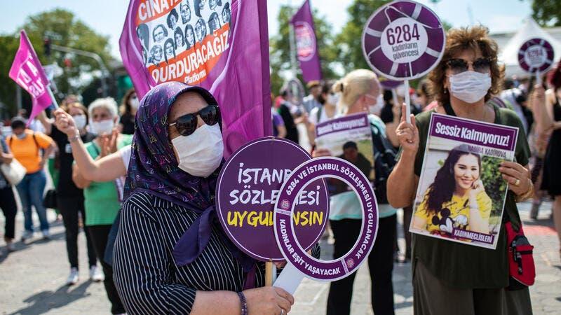 Tỷ lệ phụ nữ bị sát hại tăng cao gấp 3 lần trong 10 năm qua - Ảnh:  EPA-EFE/Erdem Sahin