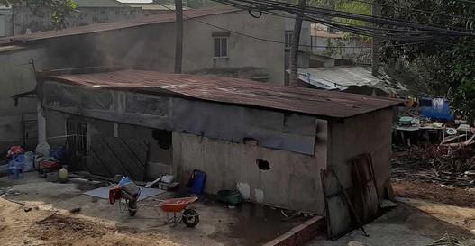 Căn nhà nơi xảy ra vụ cháy