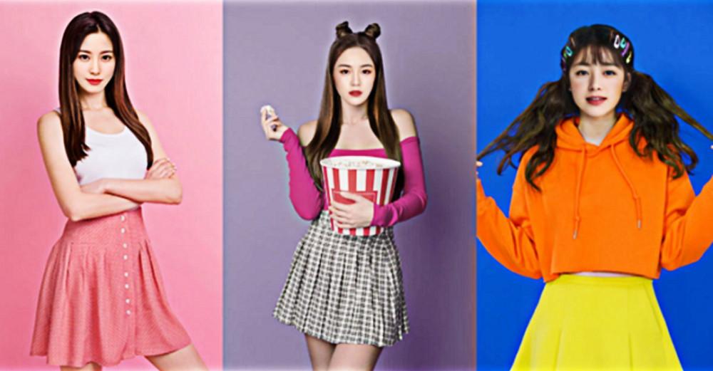 Ba trong số 11 thành viên của nhóm nhạc ảo Eternity (Hàn Quốc)