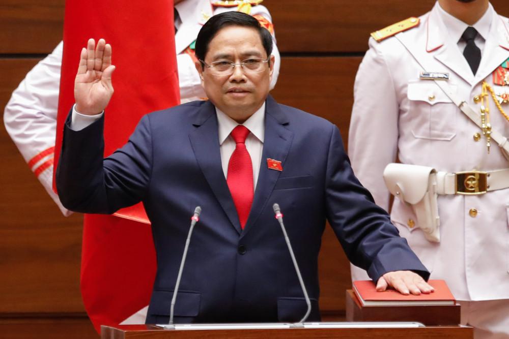 Tân Thủ tướng Chính phủ Phạm Minh Chính tuyên thệ nhậm chức chiều 5/4