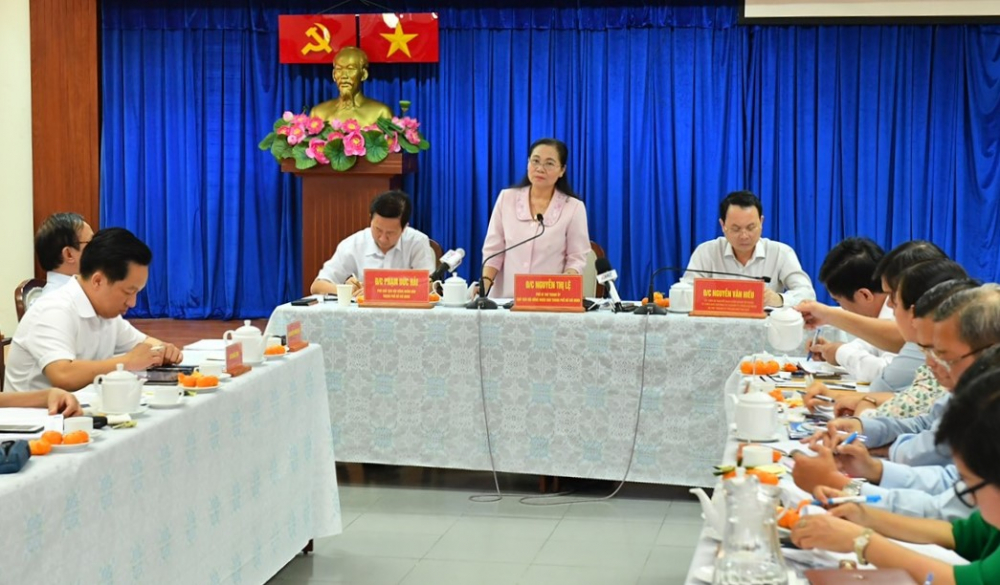 Đoàn kiểm tra của Ủy ban Bầu cử TPHCM làm việc với TP. Thủ Đức về công tác tổ chức bầu cử ĐBQH khóa XV và đại biểu HĐND các cấp.