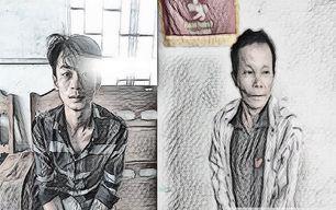 Huỳnh Hữu Hộp và Nguyễn Thanh Tuấn tại cơ quan công an