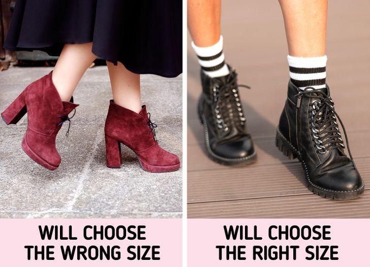 9. Sử dụng sai tất để thử giày:
