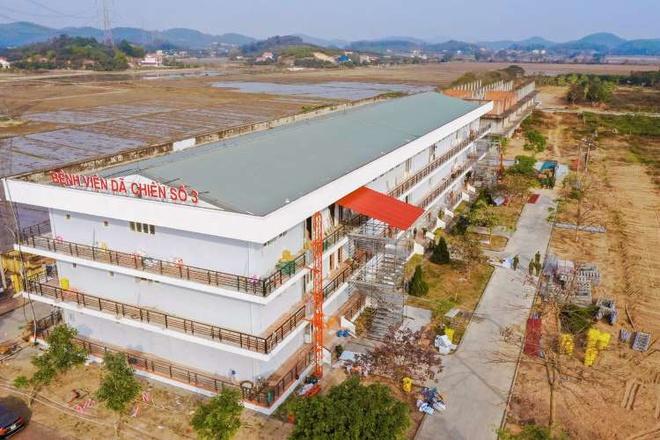 Bệnh viện dã chiến số 3 có tổng diện tích mặt bằng hơn 5.230 m2.