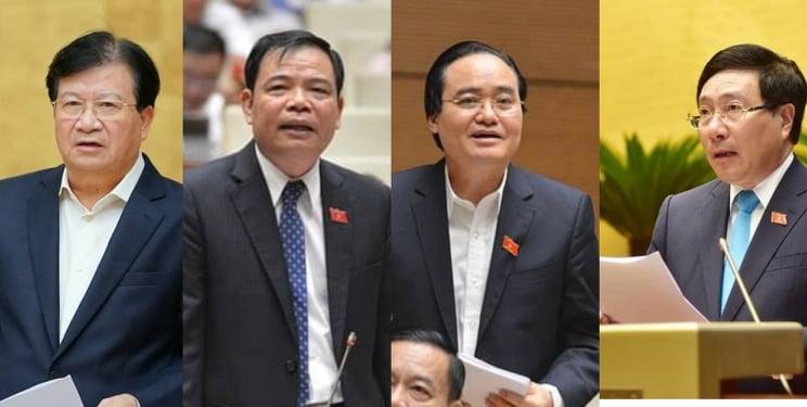 Quốc hội đã miễn nhiệm Phó Thủ tướng Trịnh Đình Dũng và 12 bộ trưởng, trưởng ngành