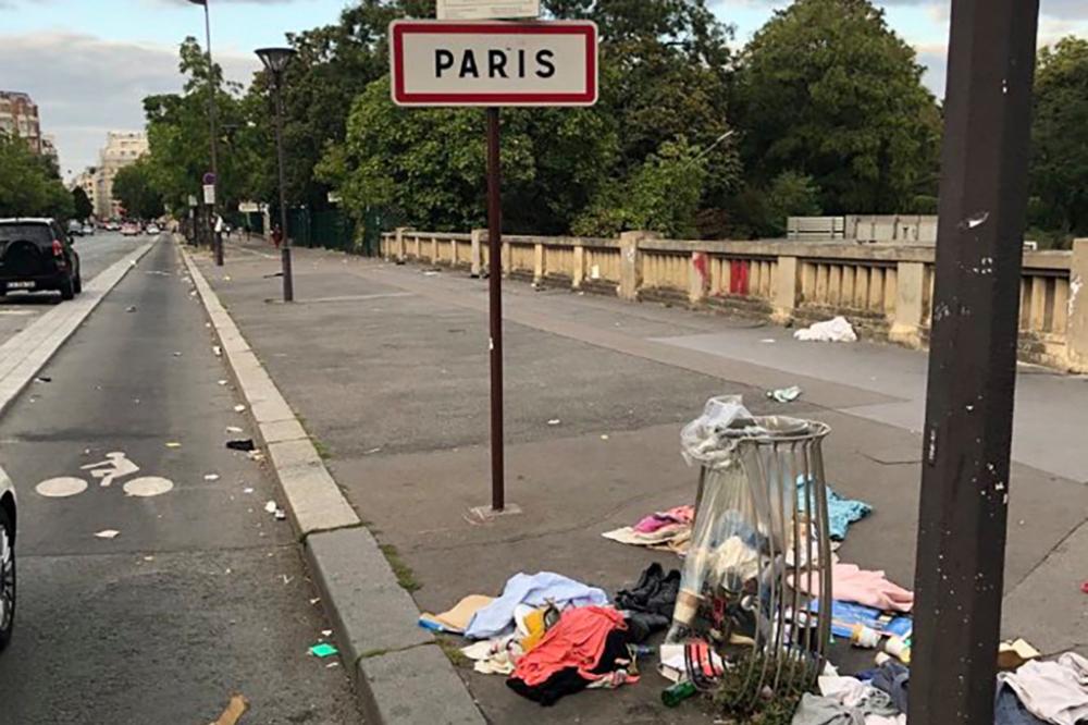 Rác thải trên đường phố thủ đô nước Pháp - Ảnh: #SaccageParis