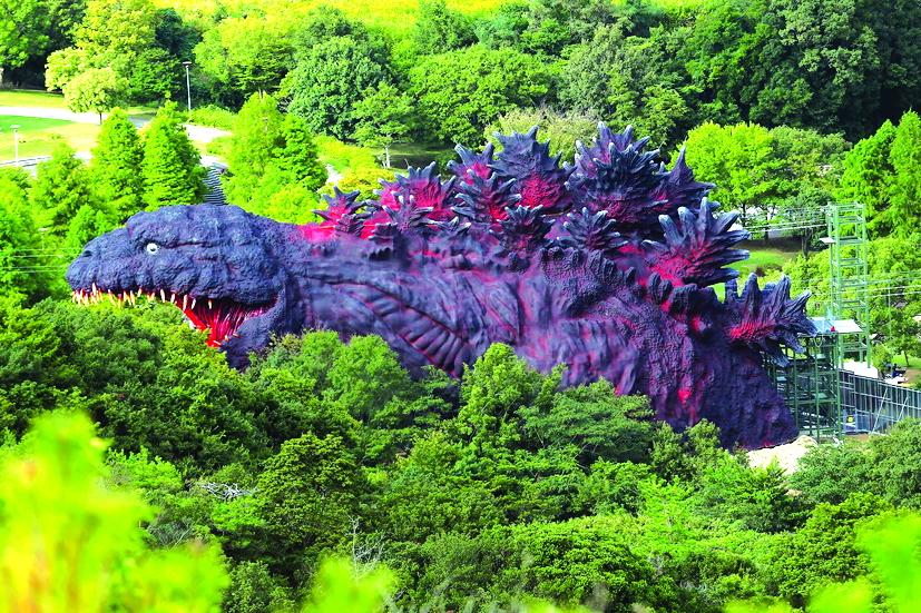 Một bức tượng Godzilla khổng lồ ở Nhật Bản