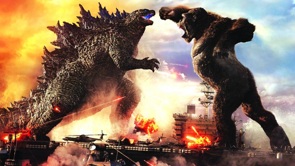 """Hiện Godzilla đang có cuộc đại chiến với một quái thú đáng gờm khác trong """"vũ trụ quái thú"""" là Kong (phim Godzilla vs Kong) ngoài rạp chiếu trên toàn thế giới"""
