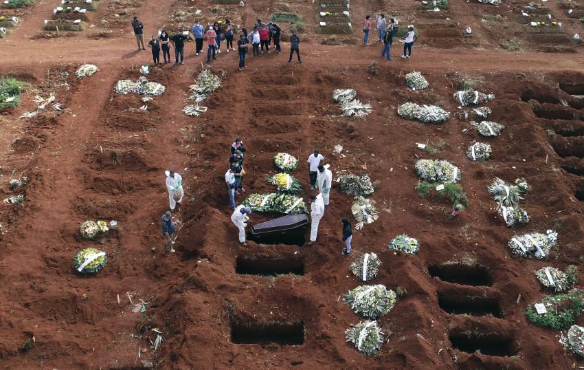 Số người chết tại Brazil liên quan đến COVID-19 tăng vọt trong nhiều ngày qua.