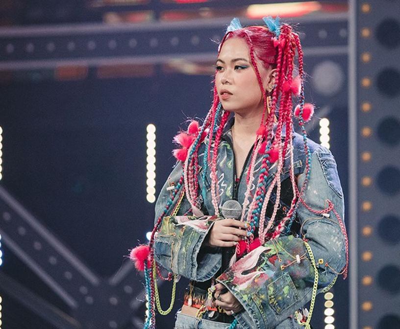 Tlinh, một trong những nữ rapper có phong cách riêng biệt. Tại Rap Việt, Tlinh tạo được ấn tượng mạnh với những tiết mục được đầu tư.