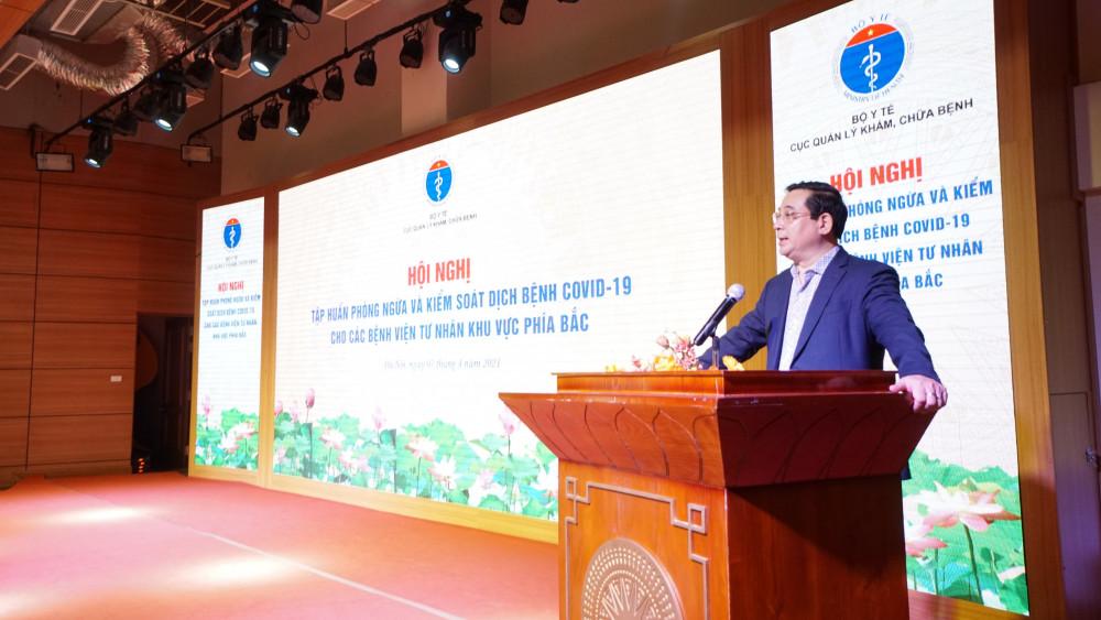 PGS.TS Lương Ngọc Khuê- Cục trưởng Cục Quản lý Khám chữa bệnh đề nghị các bệnh viện tư nhân nâng cao chất lượng bệnh viện. Ảnh: Lê Hảo