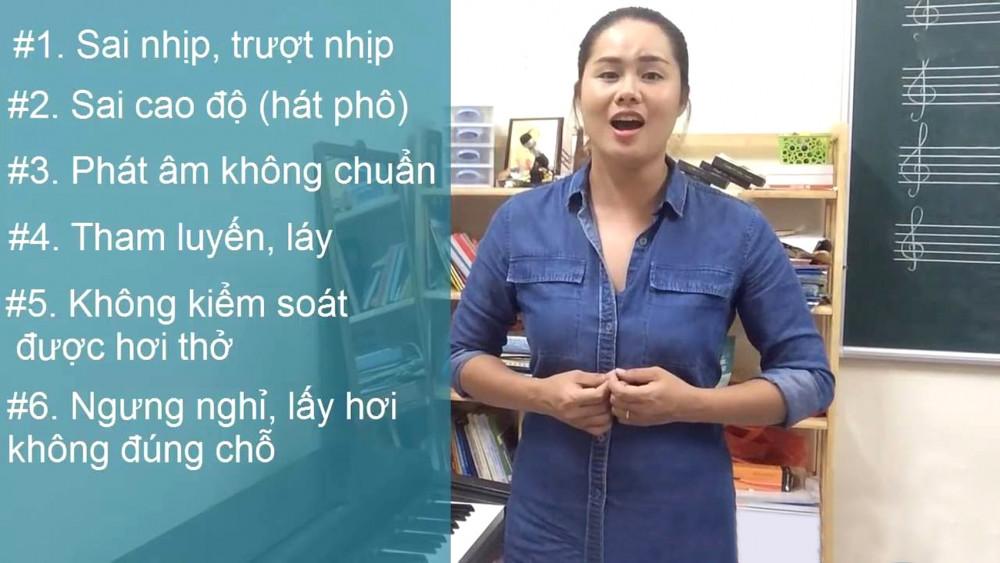 Clip dạy thanh nhạc của giảng viên Thanh Hòa thu hút nhiều người xem vì cách hướng dẫn tận tình, dễ hiểu