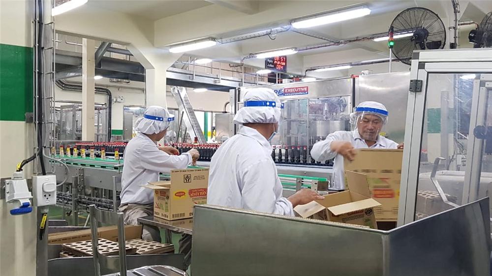 Công ty thực hiện nghiêm các biện pháp phòng, chống dịch. Ảnh: Nestlé