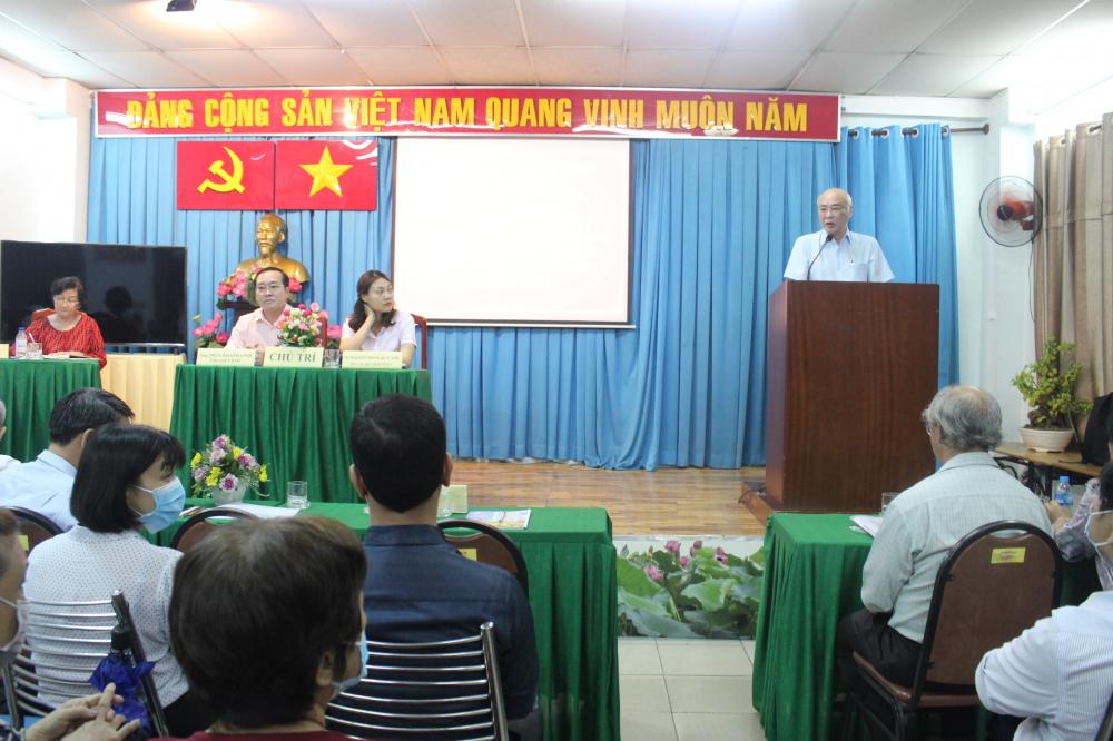 Hội nghị lấy ý kiến cử tri nơi cư trú đối với ông Phan Nguyễn Như Khuê ứng cử ĐBQH khóa XV và đại biểu HĐND TPHCM khóa X.