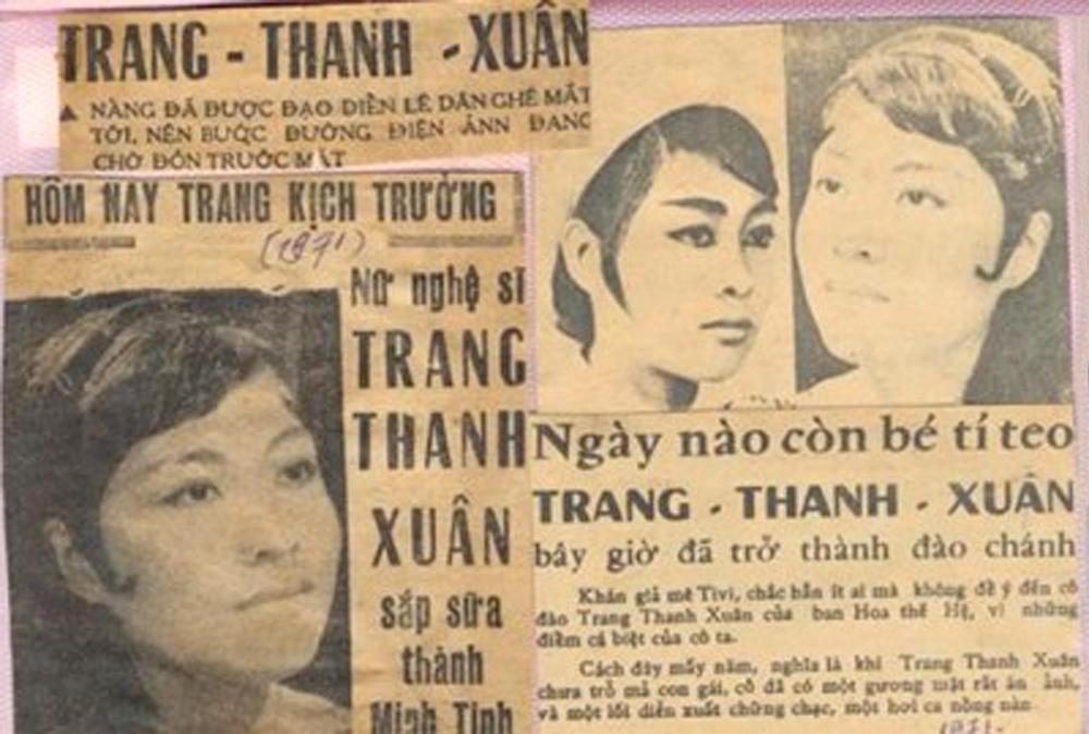Nghệ sĩ Trang Thanh Xuân  thời xuân sắc