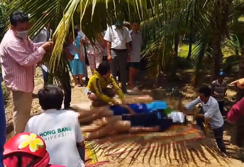Hiện trường vụ tai nạn đuối nước thương tâm