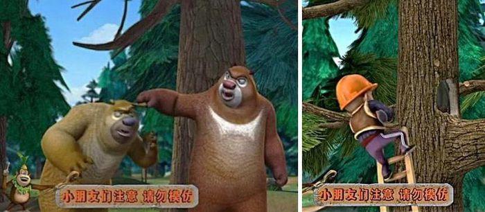 cảnh phim Những chú gấu Bonnie bị cho là có liên quan đến cái chết của bé gái ở Tứ Xuyên