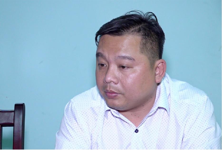 Đối tượng Lý Quang Thái tại cơ quan công an