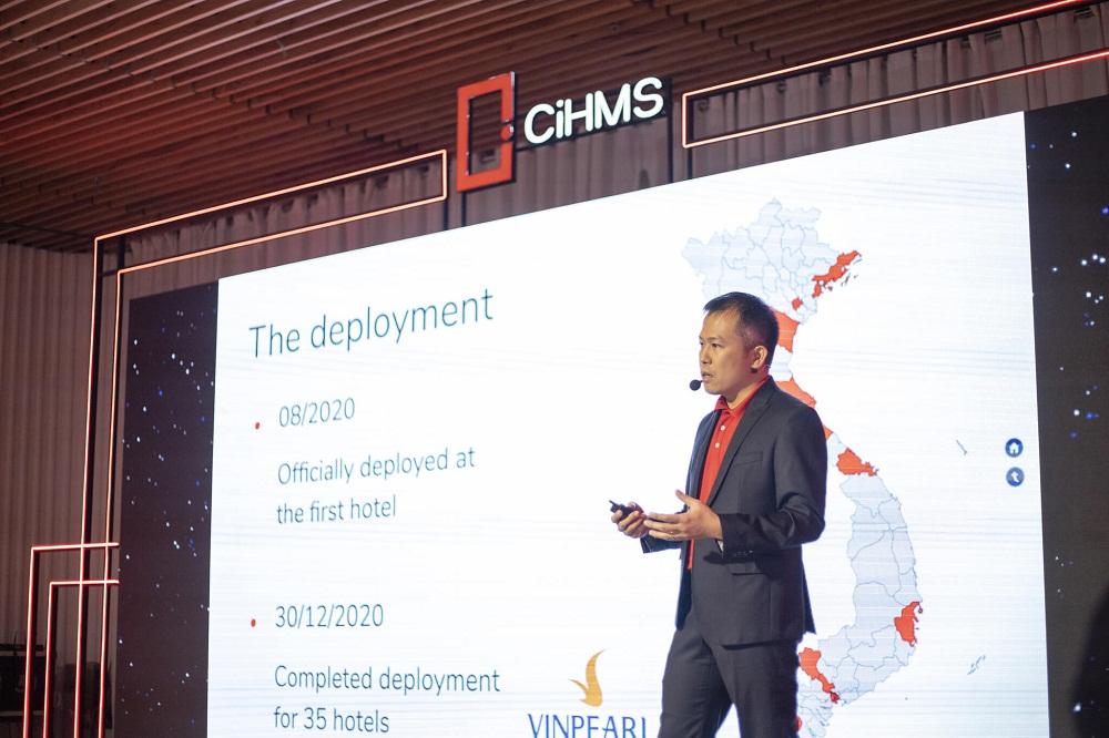 Tổng giám đốc VinHMS ông Nguyễn Văn Hoàng phát biểu tại sự kiện. Ảnh: VinHMS