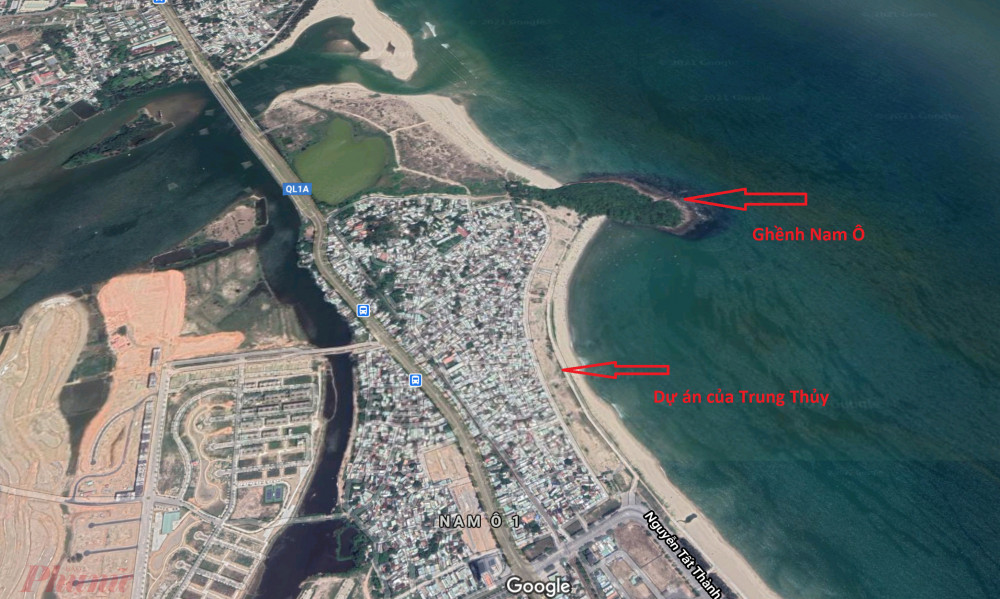 Cận cảnh dự án của Tập đoàn Trung Thủy và bờ biển Vịnh Đà Nẵng