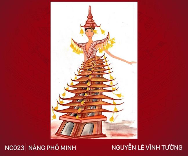 Tương tự, việc mang hình ảnh đền chùa lên trang phục cũng khiến tác phẩm