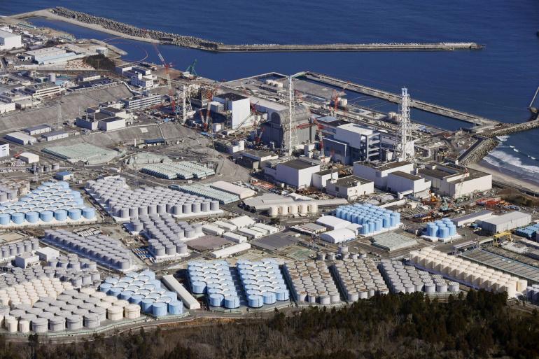 Khoảng 1,25 triệu tấn nước hiện đang được trữ trong các bồn chứa tại khu vực nhà máy hạt nhân